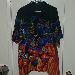 DC Comics button down shirt